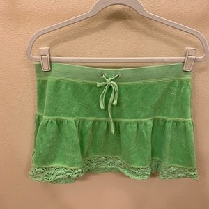 Cute Girls Size 12 Juicy Couture Green Skirt
